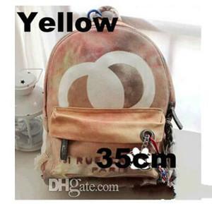 Borsa corda Graffiti Stampato Zaino Canvas ricamata con stampa multicolore tela sacchetto di scuola zaino