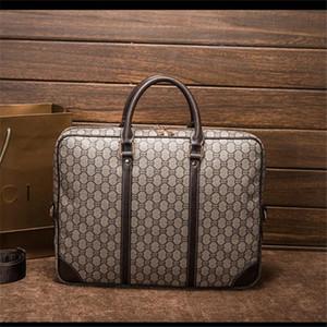 Toptan marka erkekler çanta klasik baskılı iş çanta moda profesyonel erkekler ve kadınlar el evrak çantası retro zıt professiona
