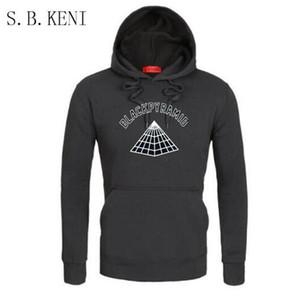 2018 schwarze Pyramide gedruckt lange Hoodie Kleid Männer und Frauen Langarm mit Kapuze Sweatshirts Herbst Winter warme Hoody Pullover