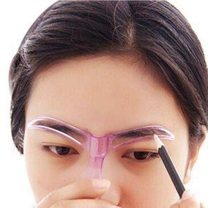 7cm*12.5cm Professional Beauty Tool Makeup Grooming Drawing Blacken Eyebrow Template Random Color 2017 Anne