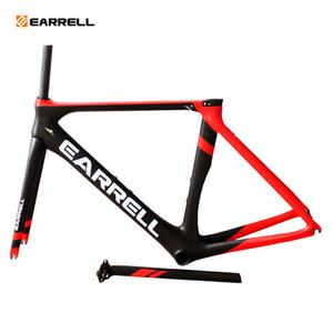 2018 Earrell 탄소 도로 자전거 프레임 탄소 도로 사이클링 레이스 자전거 프레임 세트 대만 자전거 도로 Brompton Quadro de Bicicleta 자전거 프레임