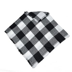 Kid Shawl Scarf Baby Girls Winter Plaid Cloak Poncho Cashmere Cloaks Outwear Children Coats Jackets Clothing Clothes For Age 3-5 Accessories