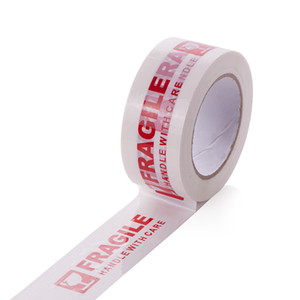 Warning Fragile Tape Handle with Care Packing Printing Tape-2 Inch x 330 Feet (110 Yards) Packing Tape 1 Roll