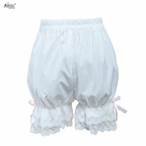 Summer Spring Ainclu New Arrival XS To XXL Free Shipping Cemavin Cotton Cute Elastic Waist White Lace Lolita Bloomers Shorts
