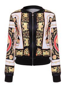 DARSJUCBD 2018 Sexy Indie Folk Womens Coat Coat Dashiki Africano Impreso Casual Bomber Jacket S M L XL S18101102