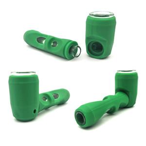 Silikon çekiç Şekil Boru Ile Plastik kase Tütün Kuru Ot Bitkisel Buharlaştırıcı M420 Için Protable Sigara Boru