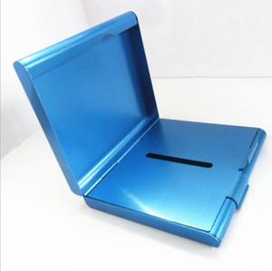 aluminium Alloy 20 Cigarettes Case box holder metal Smoking Accessories cigarette Storage Tobacco Container Tool 4 color