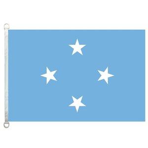 Os Estados Federados da Micronésia Bandeira Bandeira 3X5FT-90x150 cm 100% Poliéster, 110gsm Urdidura Malha Tecido Ao Ar Livre Da Bandeira