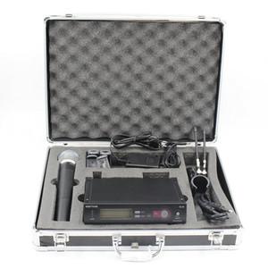 Custodia in alluminio caldo SLX24 BETA58 UHF wireless microfono senza fili Karaoke System con trasmettitore palmare Mic
