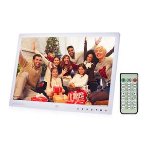 """Toptan 13 """"LED Dijital Fotoğraf Çerçevesi Masaüstü Albümü Ekran MP4 Video MP3 Ses TXT eBook Saat Takvim w / Kızılötesi Uzaktan Kumanda"""