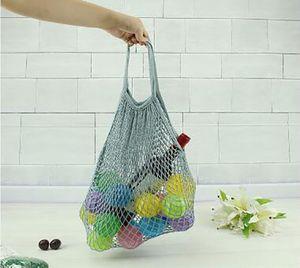 Fashion Shopping Mesh Bag Conveniente riutilizzabile stringa di frutta Shopper in cotone Tote verdure borsa esterna di stoccaggio