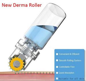 новый Titanium ролик 64 золота Hydra наклоняет ролик 0.25 mm 0.5 mm 1.0 mm derma Microneedle автоматический