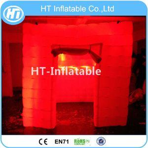 Livraison Gratuite Portable LED Photo Cabine Tente Gonflable Photo Booth LED Cube Tentes D'exposition À Vendre