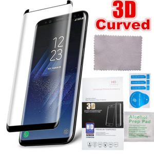 3D изогнутый чехол дружественный закаленное стекло для Samsung Galaxy S8 Защитная пленка для Samsung Note 8 S8 Plus S7 S6Edge Screen Protector