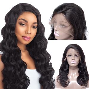 Vente chaude Péruvienne Vague de Corps Perruques de Cheveux Brésilienne 10 Pouces Avant de Lacet Perruques Perruques Mongolian Remy Avant de Lacet de Cheveux Humains pour les Femmes Blanches