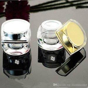 5 g di vasetti di crema cosmetica di plastica vuota acrilica oro argento ottagonale 5g 10g per contenitori di imballaggio per campioni H 100 pezzi