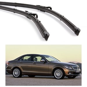 "Novo 2 pcs 24 ""24"" Wiper Bracketless Blade Windscreen apto para Mercedes-Benz Classe C 2007-2011 08 09 10"