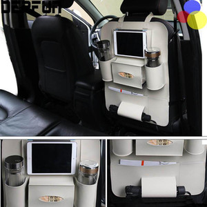 سيارة المقعد الخلفي المنظم متعدد الوظائف حقيبة تخزين المشروبات تستيفها اللوحي حامل الهاتف الحاويات الداخلية الملحقات