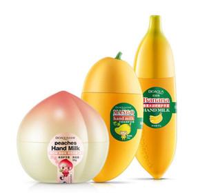 Cute Milk Peaches Banana Mango Crema idratante idratante per le mani per il corpo invernale Cura delle mani Lozione nutriente per le mani