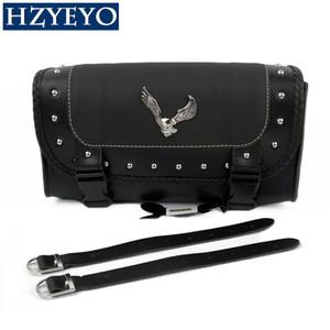 HZYEYO Универсальный Eagle Поддельный кожаные сумки Мотоцикл Saddlebag Side хранения инструментов Сумка для Мото Спорт D831