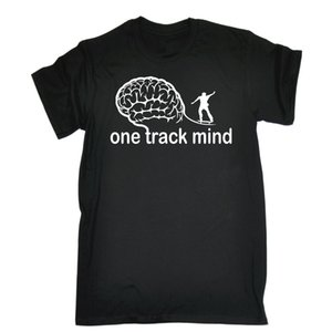 One Track Mind Skate T Shirt Patinaje sobre tabla Skater Divertido Regalo de cumpleaños Presente T Shirt Moda Tops Camiseta Funny Men