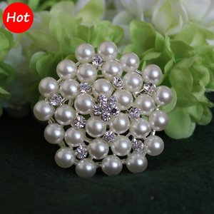 Lovely Snowflake Silver Plated Brooch Rhinestone and Imitation Pearls Brooches For Wedding Woman Pins Lapel Pin