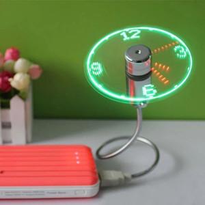 Портативный мини-USB вентилятор время часы гаджеты Гибкие светодиодные часы кулер для портативных ПК ноутбук регулируемый дисплей времени вентилятор охлаждения