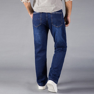 Sand Wash Jeans Herren Straight Fit Blue Stretch Denim Hosen Große Hosen Business Cowboys Man Jeans 40 42 44 Größe Stonewashed