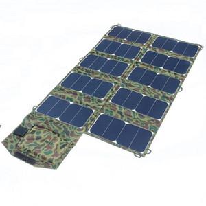 모조리! 64W 접이식 태양 전지 패널 충전기 야외 방수 충전기 Sunpower 휴대용 태양 열 충전기 DC21V + 듀얼 USB 3PCS / Lot 무료 배송