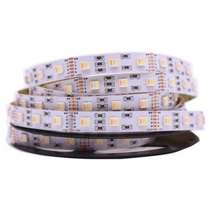 5M RGB + CCT LED Strip 5050 SMD 60LED / M DC12V 5 in 1 chip LED CW + RGB + WW Flessibile LED Strip PCB bianco