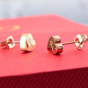 Marca 316L titanio pendiente del perno prisionero de acero con super lindo afortunado del corazón para las mujeres de la boda joyería de regalo precio de fábrica libre de envío PS6620