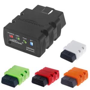 KONNWEI KW902 ELM327 OBD Mini Lector de Código Bluetooth Escáner Auto Herramienta de Diagnóstico Con caja al por menor UPS DHL Envío Gratis