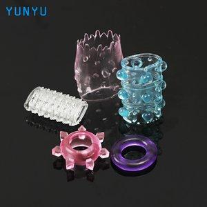 Ejaculação diferente 5 pcs galo silicone pênis anel para casal adulto atraso qualidade anel brinquedos castidade pênis alta manga sexo pênis sukvq