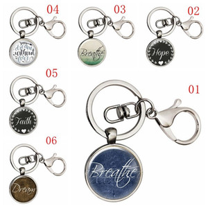 Dream Hope Breathe Keychain, Affirmation Quote Keyring Jewelry, Yoga Gifts,Words Pendant, Inspirational Accessories Meaningful gift