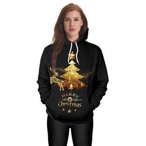 Mens Hoodies de Noël Golden star tree print 3D Designer Hommes Femmes Sweatshirts Poche à capuche Sweats à manches longues Pulls unisexe