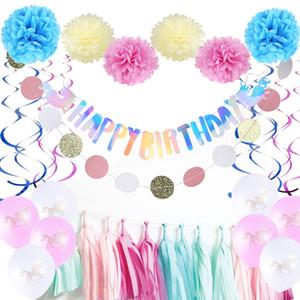 Anniversaire Diy Licorne Fête D'anniversaire Décoration Ensemble Avec Joyeux Anniversaire Bannière Licorne Balloon Tassel Garland
