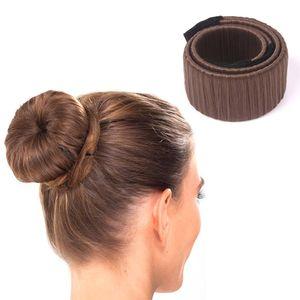 8 colores DIY Easy Bun Makers Braiders de pelo Elástico Hairband Donuts Chignon Magique Magic Styling herramientas para el cabello