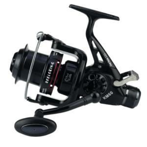 Moulinet de pêche carpe Spinning Reel 10 + 1 Roulements à billes 5: 2: 1 Pesca Fish Bait pour Dual Brake Right / Left Aluminum Main