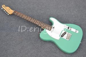Горячо! Теле улыбка милые девушки светло-зеленый гитара высокое качество электрогитара Бесплатная доставка