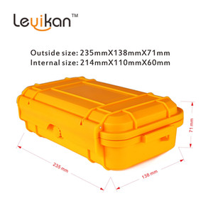 Outdoor Travel Shockproof Protective Plastic Waterproof Box Storage Case Airtight Container Carry Box For EDC Tools