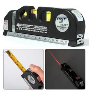 4 في 1 الأشعة تحت الحمراء ليزر المستوى عبر خط ليزر الشريط 2.5M أداة قياس متعددة الأغراض اليد
