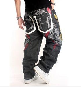 Influx Männer europäischen Jeans Street Dance Kleidung Persönlichkeit Stickerei lose Hosen