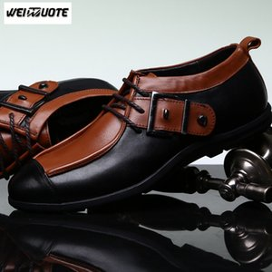 WEINUOTE New Fashion Hommes Chaussures en cuir pour hommes occasionnels Chaussures à lacets classiques pour hommes Male Soft Chaussures formelles Chaussures