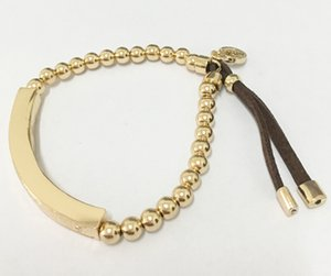 m serie oro e argento struttura Bend braccialetto elastico PU braccialetto di perline rame elastico quattro colori gioielli lem