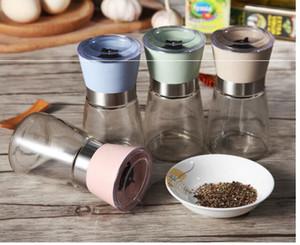 Yüksek Kalite Mutfak Aracı Manuel Karabiber Değirmenleri Baharat Değirmeni Şişeleri Öğütücü Cam Şişe Yaratıcı Mutfak Yemek Bar Malzemeleri