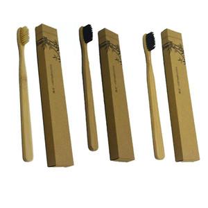 4colors brosse à dents en bambou bambou charbon de bois brosse à dents en nylon souple capitellum brosses à dents en bambou pour hôtel brosse à dents de voyage gratuit DHL