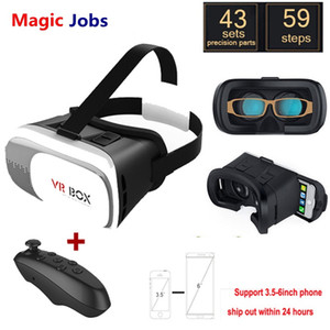 Magic_Jobs VR BOX 2.0 Gafas Google Cartón Realidad virtual 3D VR Gafas para iPhone xiaomi 3.5 - 6.0 pulgadas Smartphone + Bluetooth Gamepad