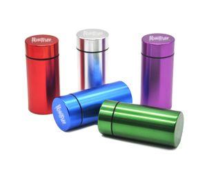 Metal Stash Pill Box Водонепроницаемый алюминиевый корпус для тайш JAR Pranger Picture Case Box держатель для бутылки контейнер серебристый