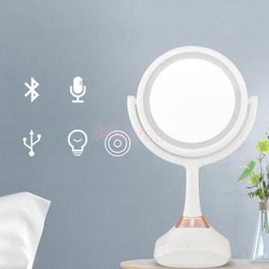 2 Taraflı LED Makyaj Aynası Yanıp Sönen Ayna Doğal Işık Makyaj Aynası, Bluetooth Ses Telefonu Şarj Cihazı
