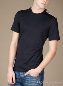 Nueva moda estilo británico verano camiseta corta hombres fitness camiseta para hombre ropa casual lycra blanco camiseta para hombres